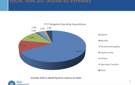 ECC's fiscal year 2017 budget pie graph, courtesy of ECC