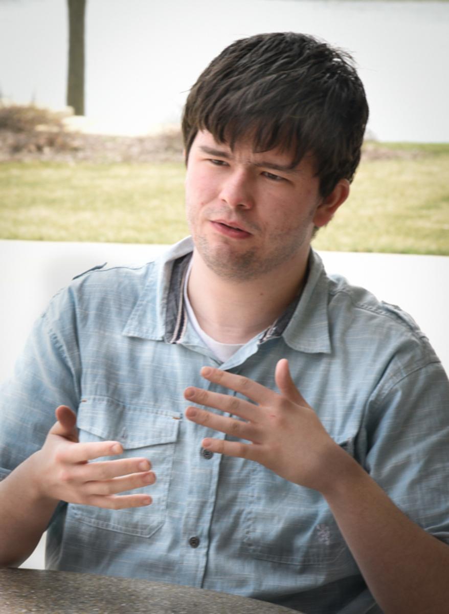 ECC Student David Jones discusses his new role as student re[presebtative on the ECC Board of Trustees.