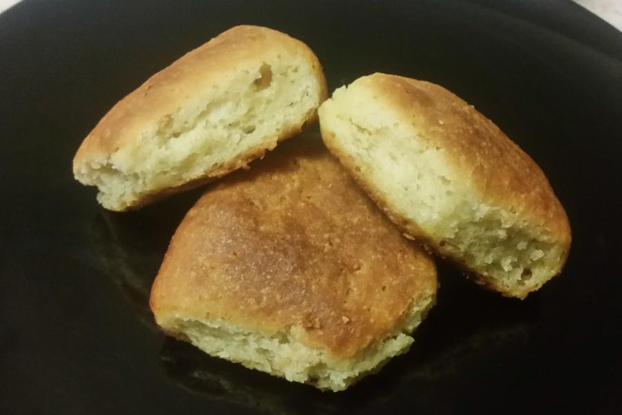 Photo of homemade gluten-free dinner rolls made with Pamela's gluten-free flour mix.