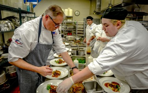 Chef Randy Wander hosts the visiting chef dinner at spartan terrace