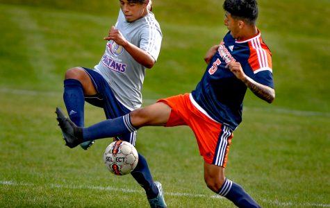 Weather shortened mens soccer vs Morton Grove