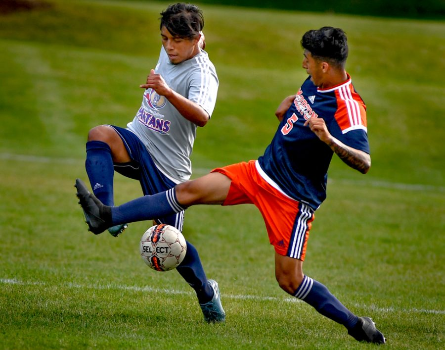 Action+in+Tuesday+Sept+25+weather+shorten+ed+match+men%27s+soccer+vs+Morton+Grove+CC.