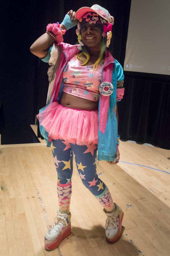 Kamilah Jones joins the Anime Club as a guest speaker to talk about Hard Decora and J-Fashion on Monday, Sept. 24 in the Spartan Auditorium.