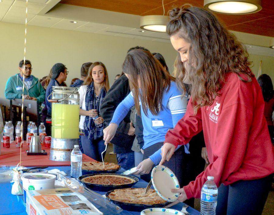 Students dish up the pie at the Pie Partisan event on School Gun Safety hosted by Student Government on Oct. 11