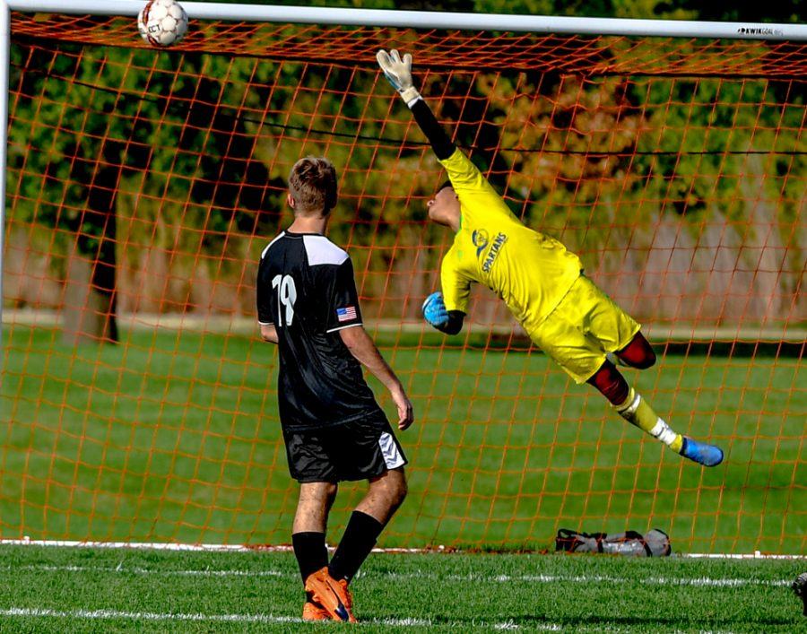 Plenty+of+action+in+the+ECC+mens+soccer++hard+fought+4+to+3+loss+to+Waubonsee+College.