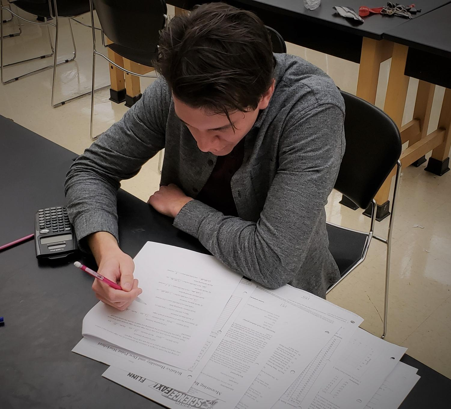 Cody Carlson studying in Geology