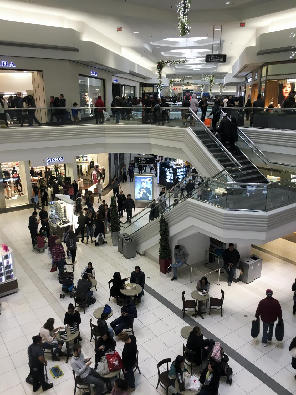 Large crowds fill up Woodfield Mall on Black Friday, Nov. 23.