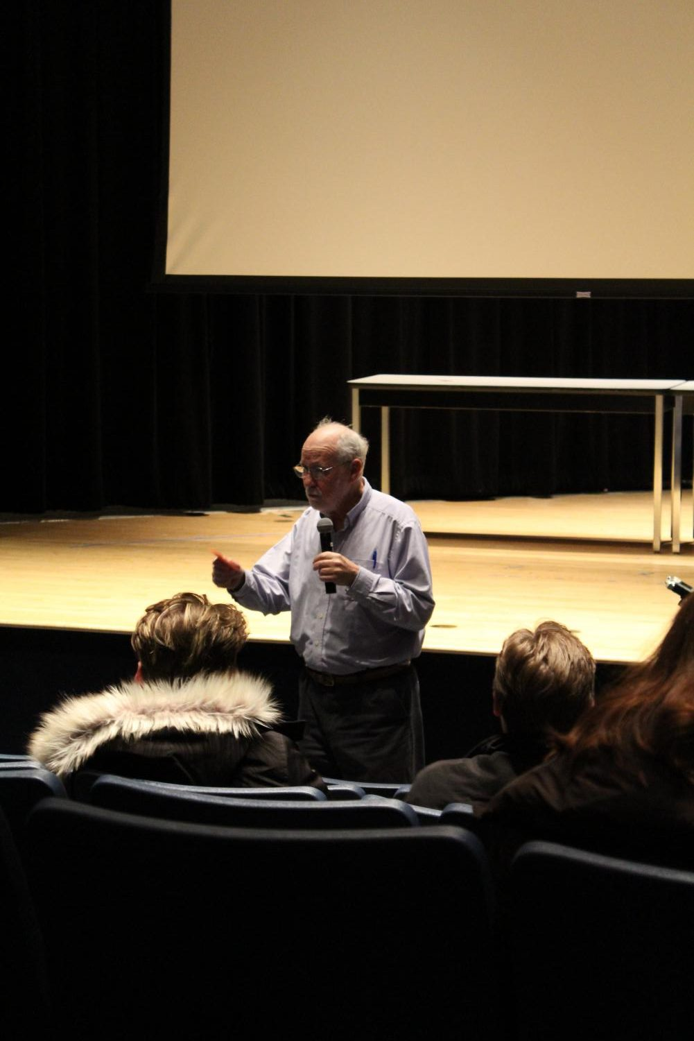 Professor Malone shared his teaching theory and recalled his first time teaching during his last lecture on Dec. 4.