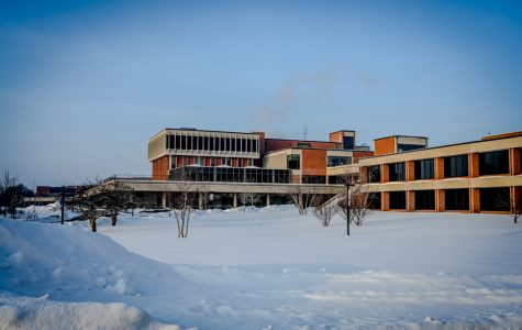 The empty campus. ECC shuts down for two days.