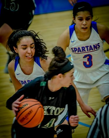 Lady Spartans crush Harper College in basketball.