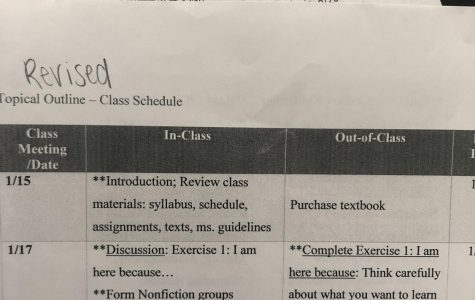 Many professors had to completely readjust their schedules and print revised ones for their students.