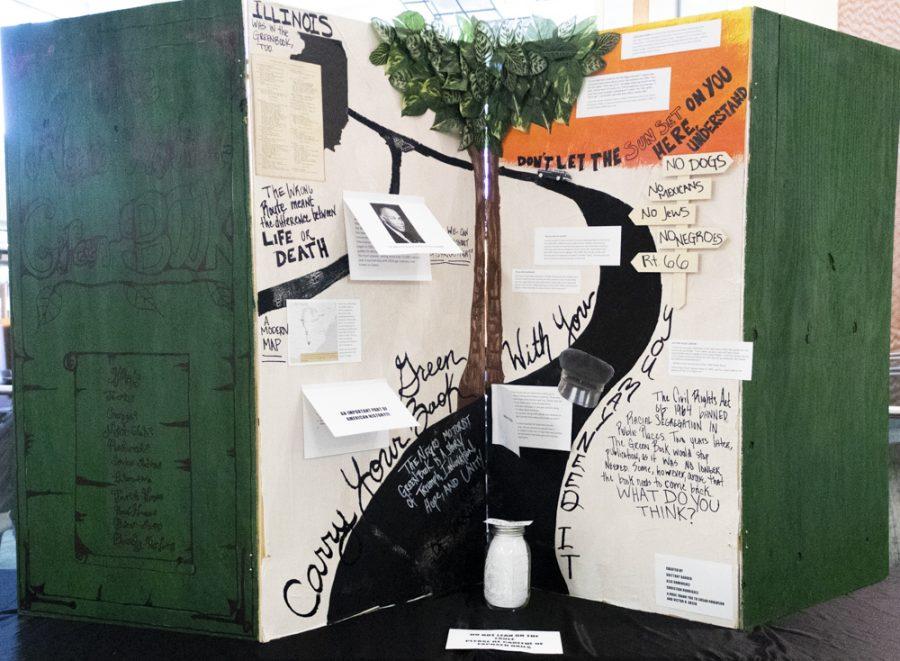 The+%22Negro+Motorist+Green+Book%22+interactive+pop-up+exhibit+held+in+the+Jobe+Lounge%2C+on+February+13.