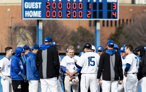 ECC wins their baseball game against College of DuPage, 4-3, on March 27.