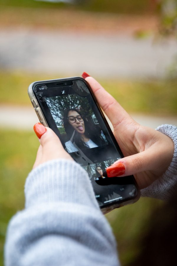 Leanne Zshornack loves using her phone to take selfies, and with the help of a friend, full outfit pictures. She uses Instagram to post and share her photos.