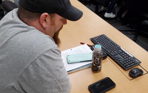 Micheal Marin in General Education Statistics class.
