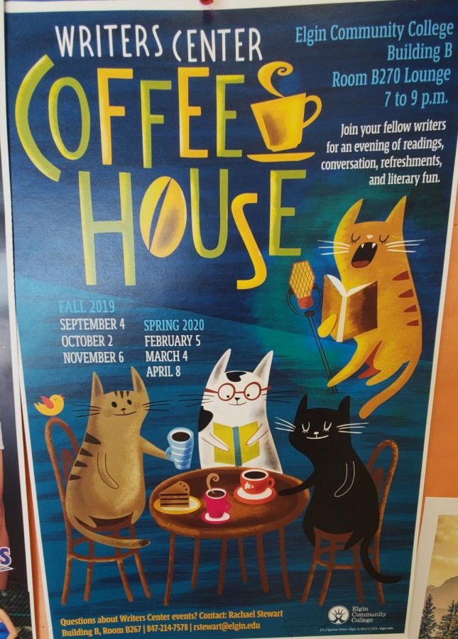 Poster for spring 2020 semester Coffee House gatherings.