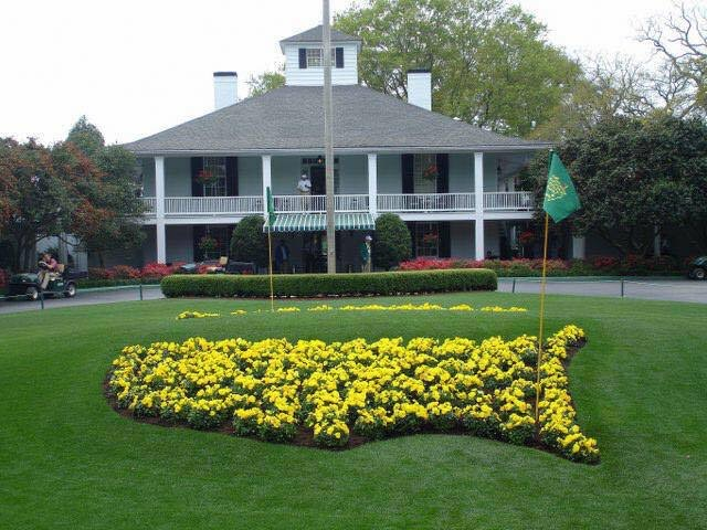 The entrance to Augusta National Golf Club from Magnolia Lane