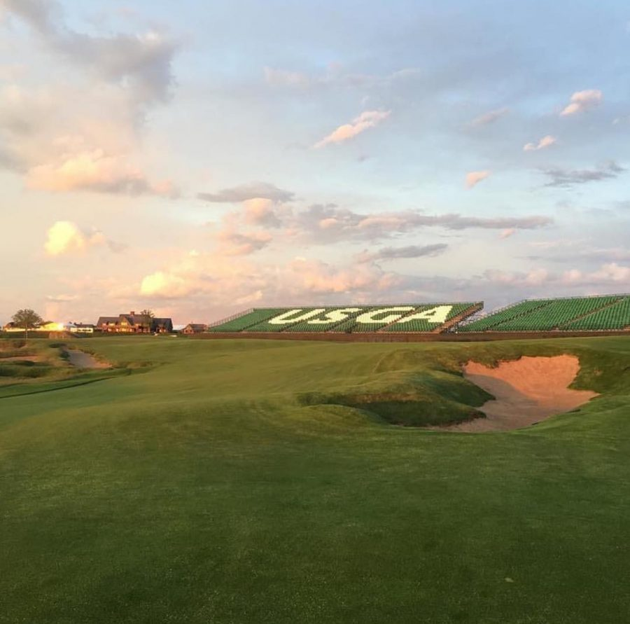 A view from the fairway the Sunday before the US Open in 2017