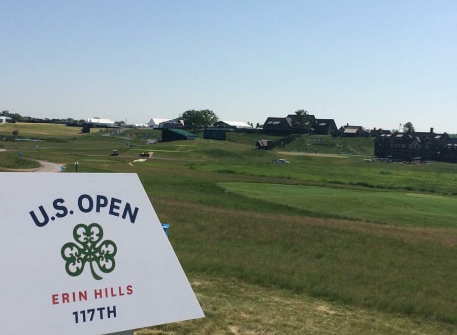 The 2017 US Open at Erin Hills from the back 9