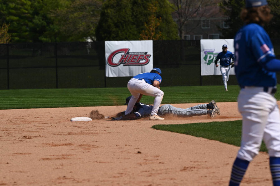 The Spartans split a double header against  South Suburban College on April 30. ECC finished the season 20-27-1.