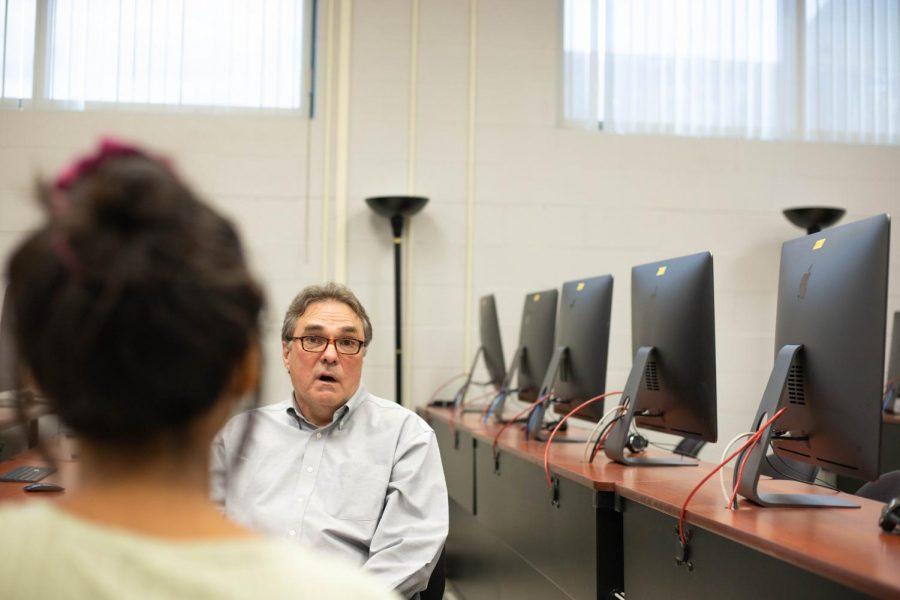 Professor Tim Kaar speaks with interviewer, Gwen Sihanath, about his awards on Sept. 22.